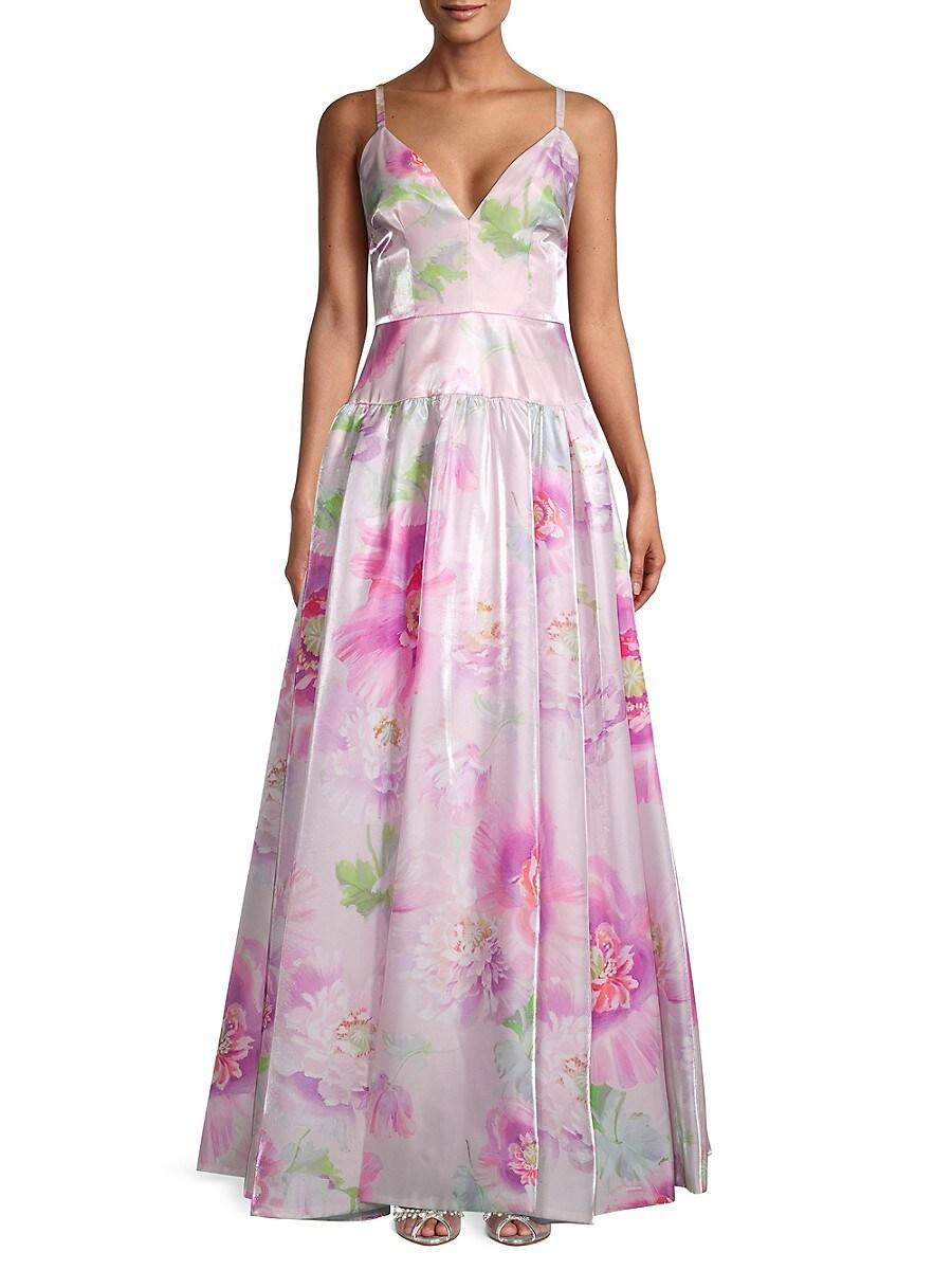 Flor et. al Women's Miller Floral Satin Gown