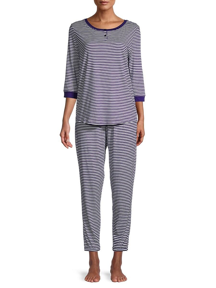 Women's 2-Piece Striped Pajama Set