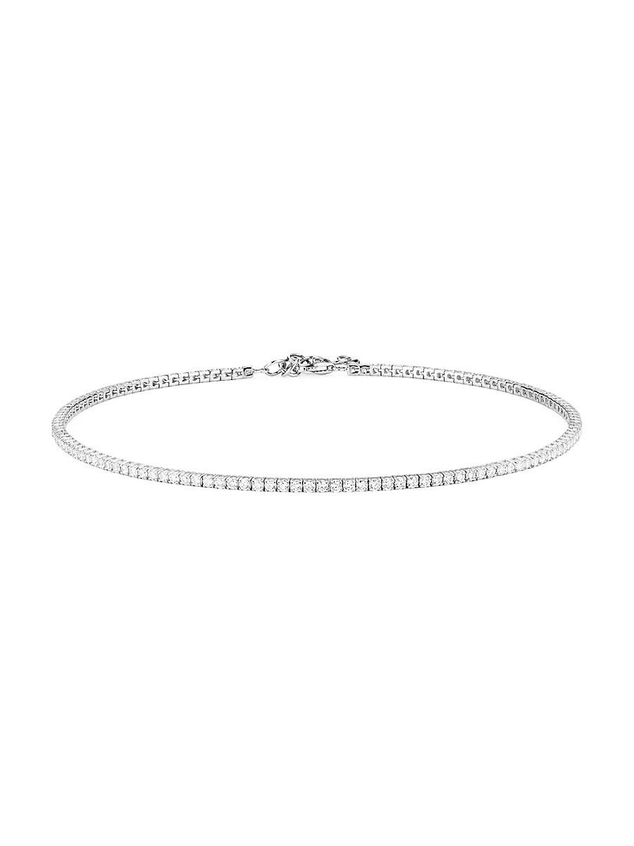 Women's 14K White Gold & Diamond Tennis Choker Necklace