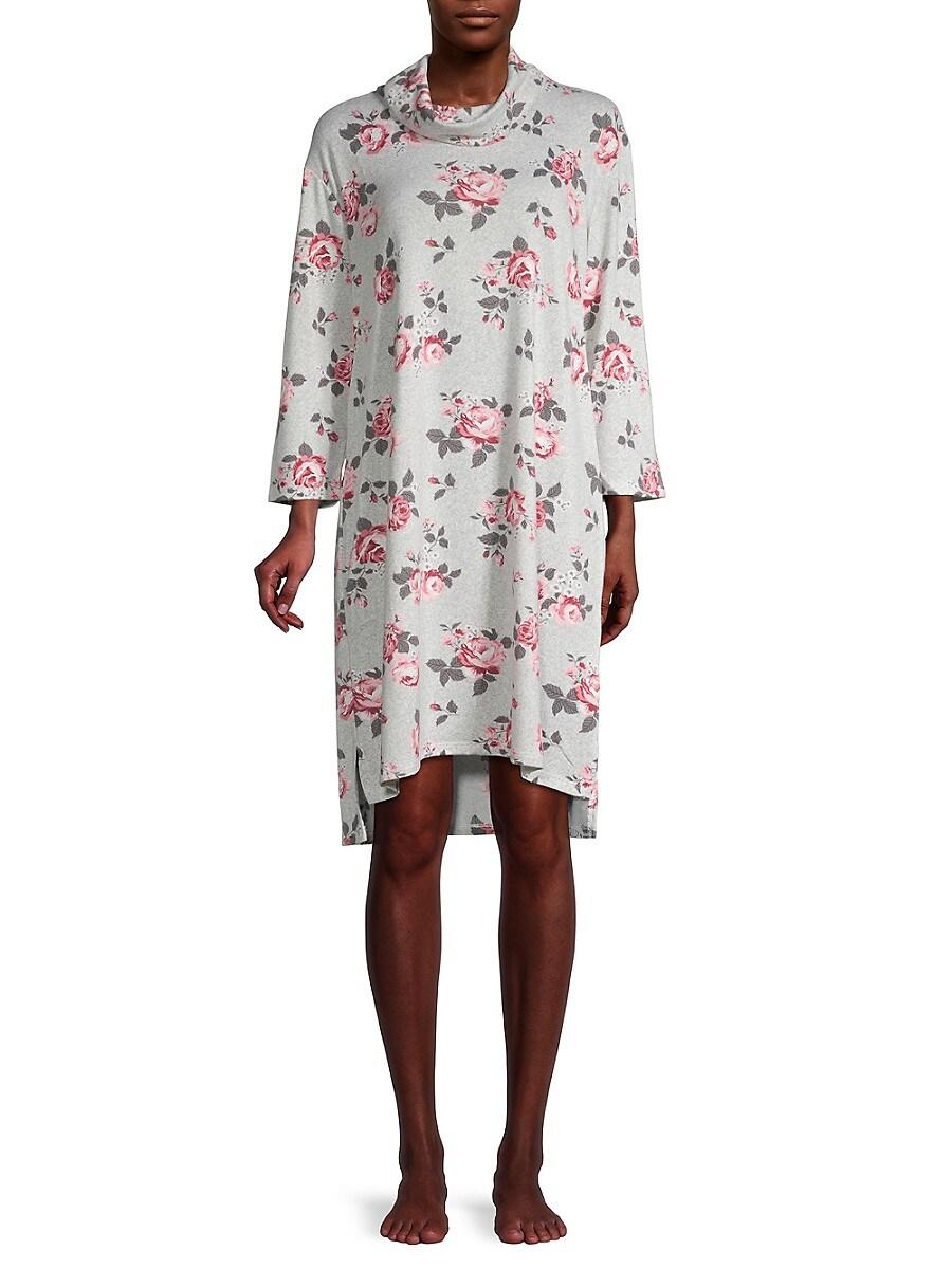 Women's Cowlneck Dropped-Shoulder Sleepshirt