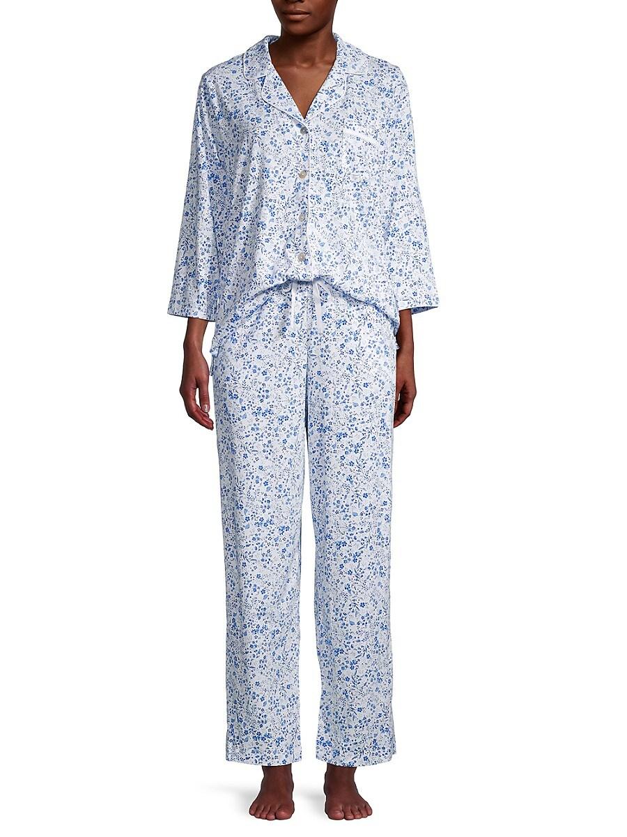 Women's 2-Piece Floral-Print Pajama Set