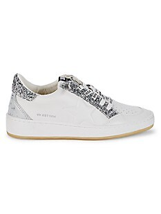 Vintage Havana Glitter Leather Hint Sneakers,WHITE MIX