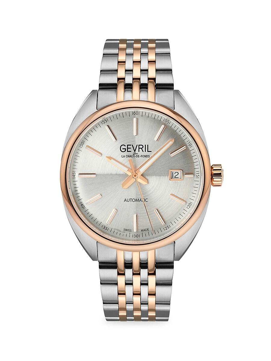 Men's Five Points Swiss Automatic Stainless Steel Bracelet Watch