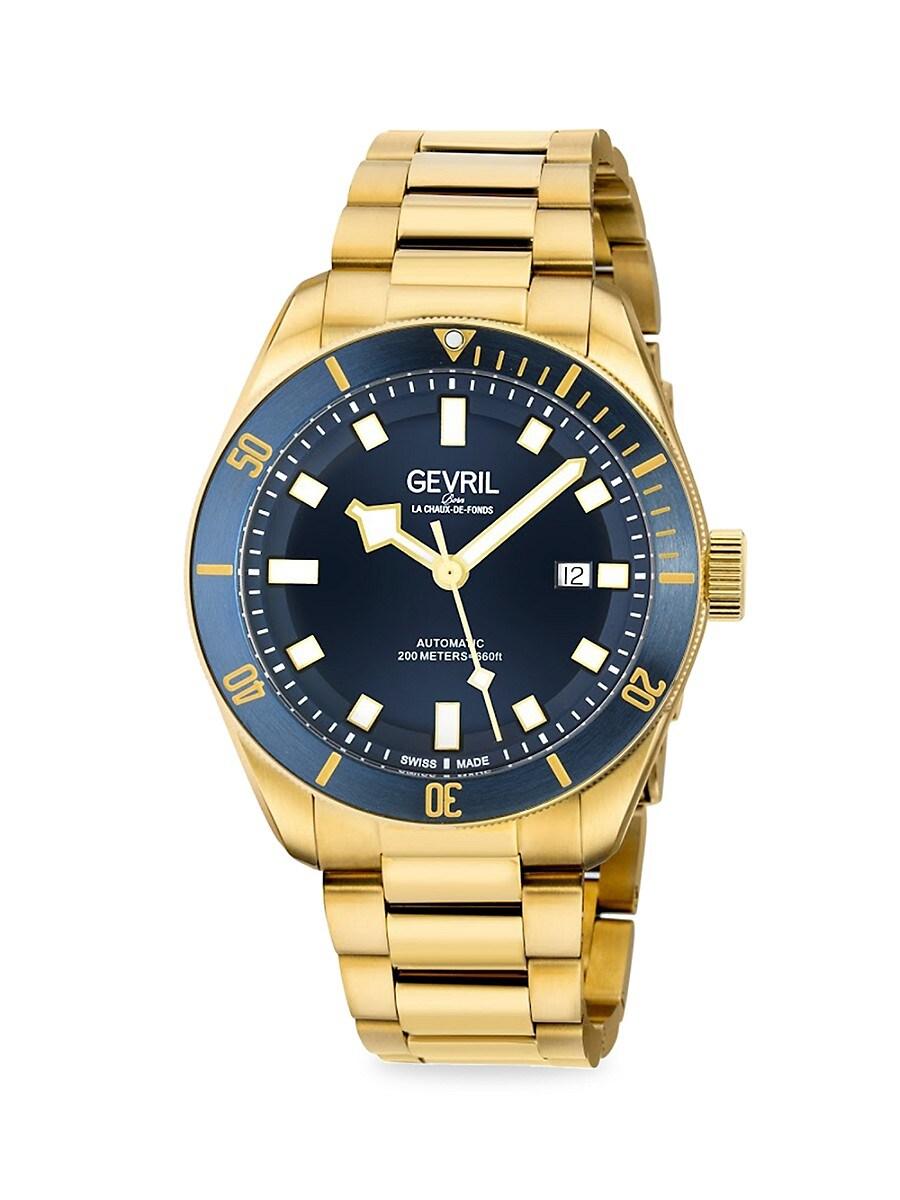 Men's Yorkville Stainless Steel Swiss Automatic Bracelet Watch