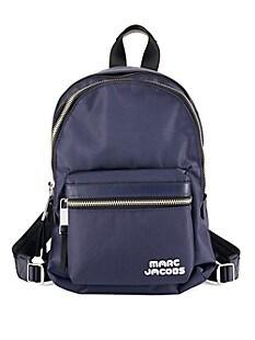 마크 제이콥스 Marc Jacobs Medium Logo Backpack,MIDNIGHT BLUE