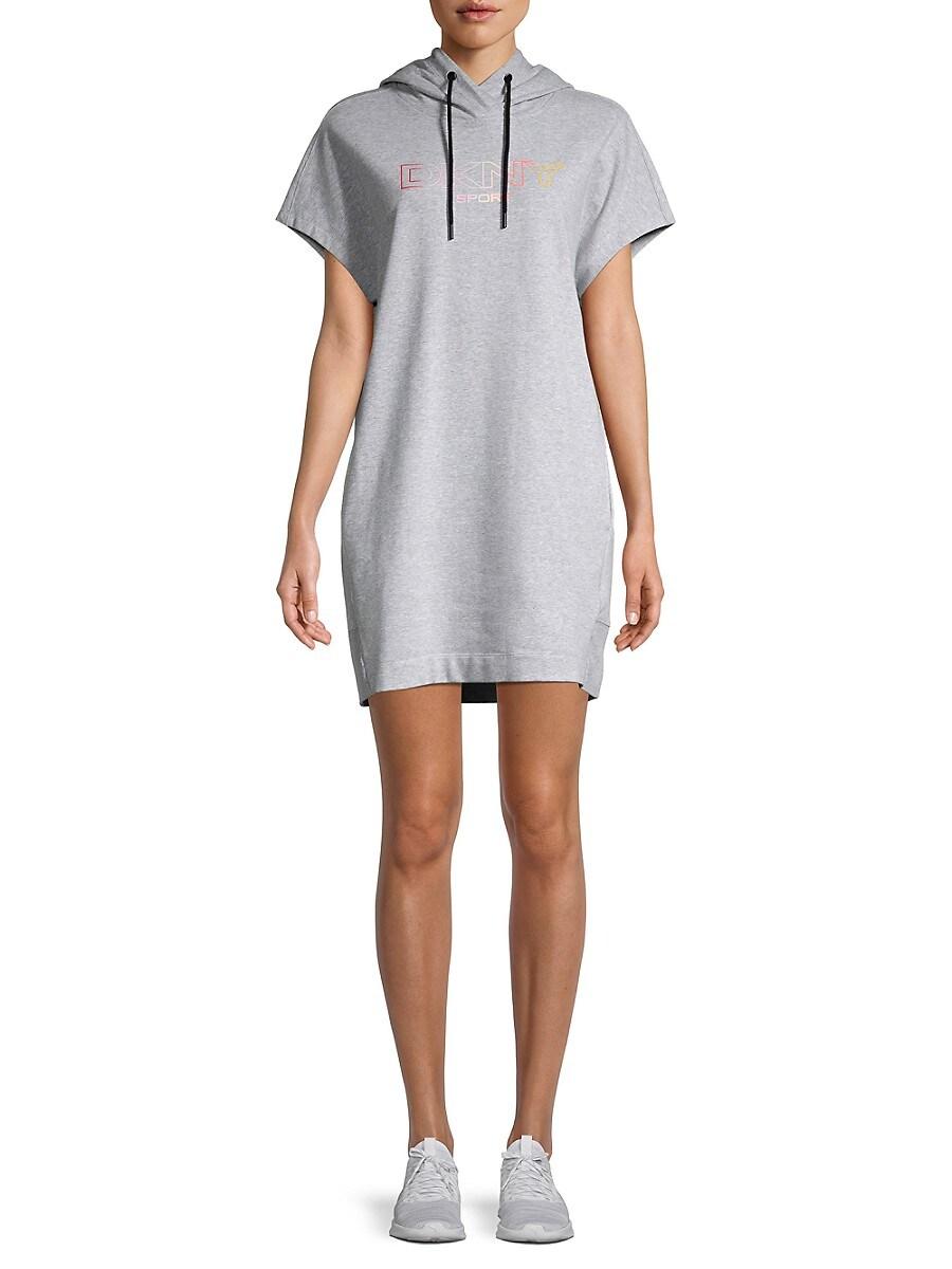 Women's Ombre Logo Hoodie Dress