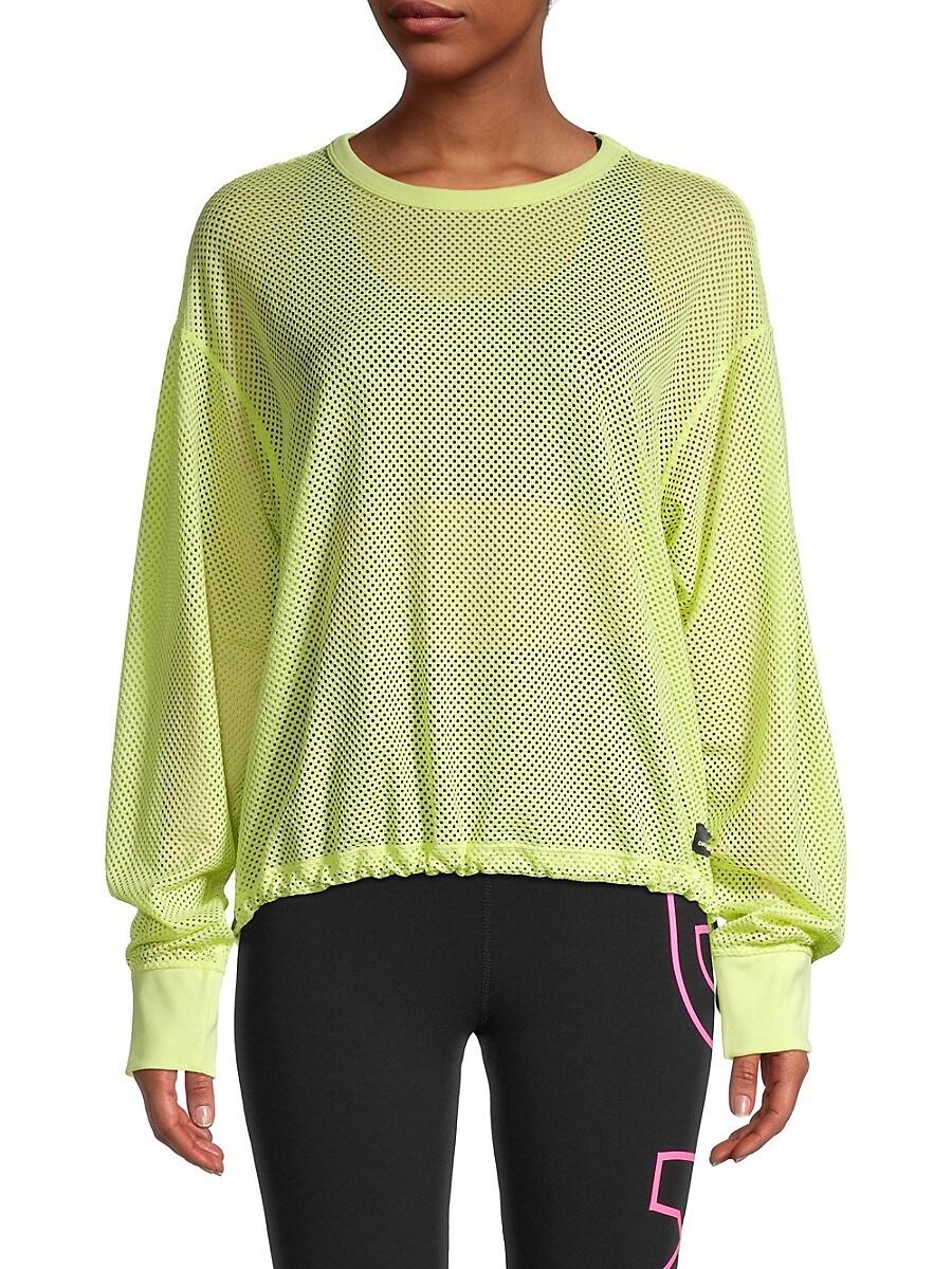 Women's Mesh Dropped-Shoulder Sweatshirt