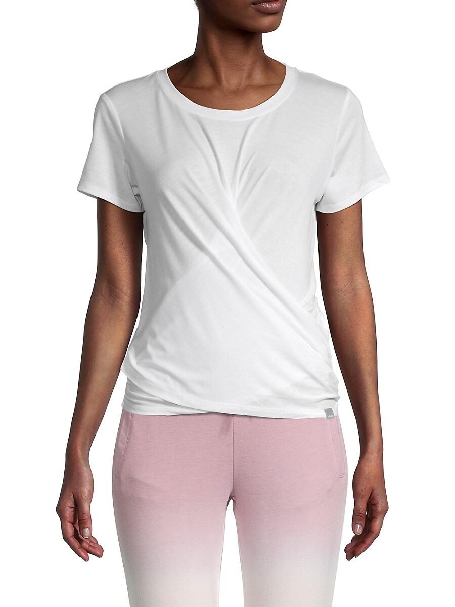 Women's Shirred Overlapping T-Shirt