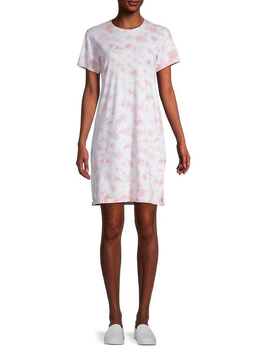 Women's Tie-Dyed Cotton T-Shirt Dress