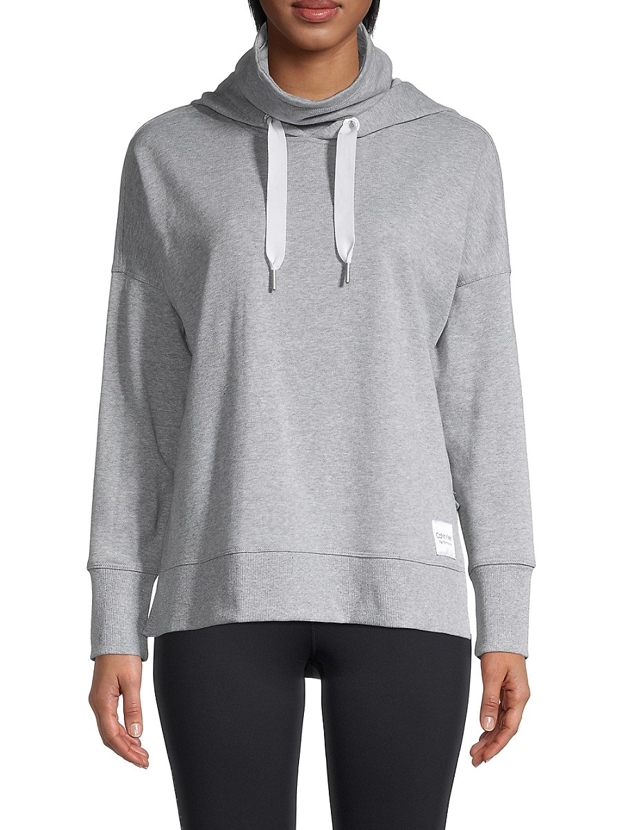Women's Funnel-Neck & Face Mask Hoodie
