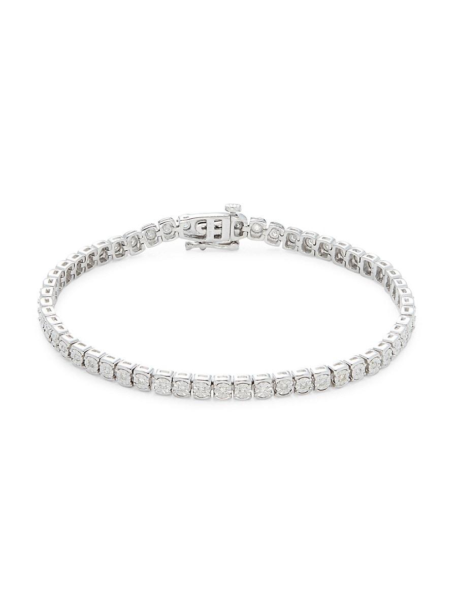 Women's Eny Sterling Silver & 0.46 TCW Diamond Tennis Bracelet