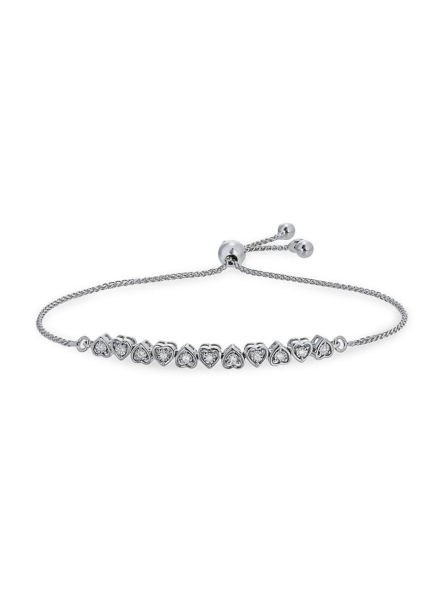 Women's Sterling Silver & 0.08 TCW Diamond Bracelet