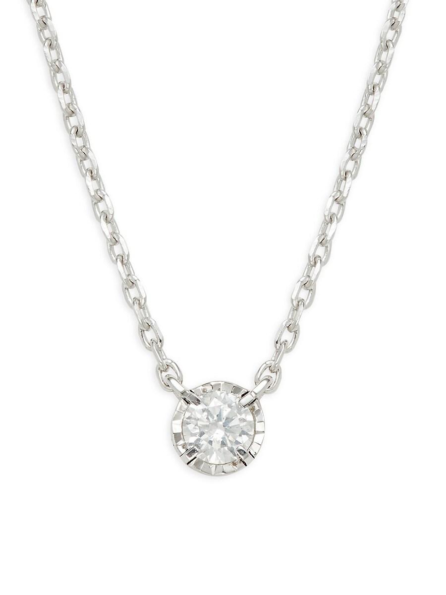 Women's Sterling Silver & 0.23 TCW Diamond Necklace