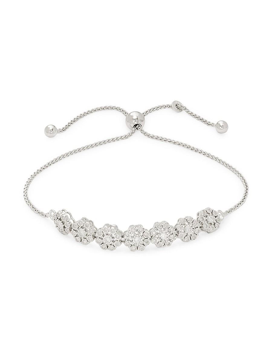 Women's Sterling Silver Diamond Bracelet