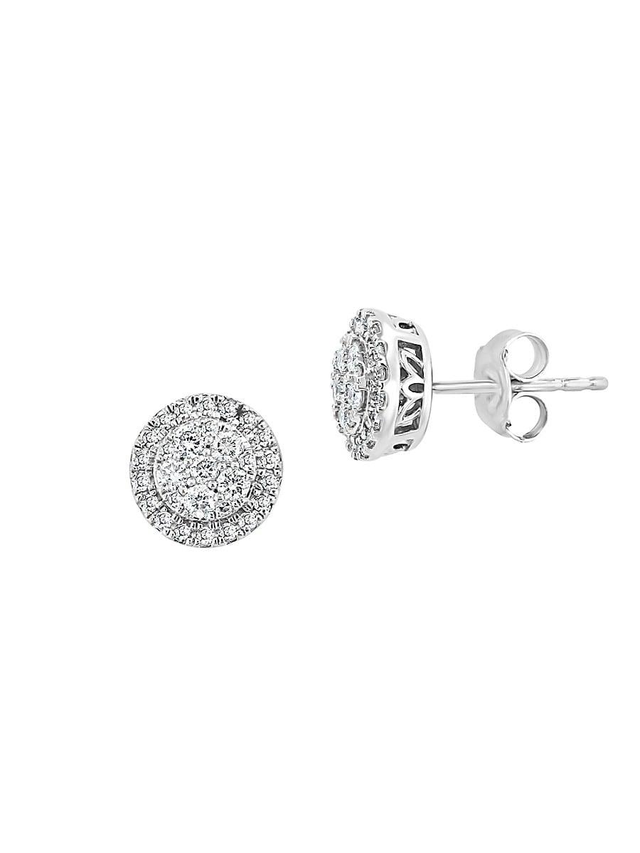 Women's Eny Sterling Silver & 0.46 TCW Diamond Stud Earrings