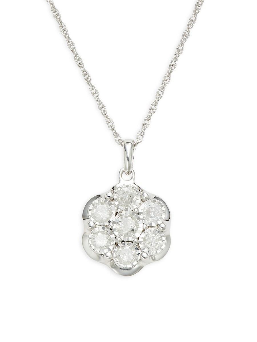 Women's Sterling Silver & 0.46 TCW Diamond Necklace