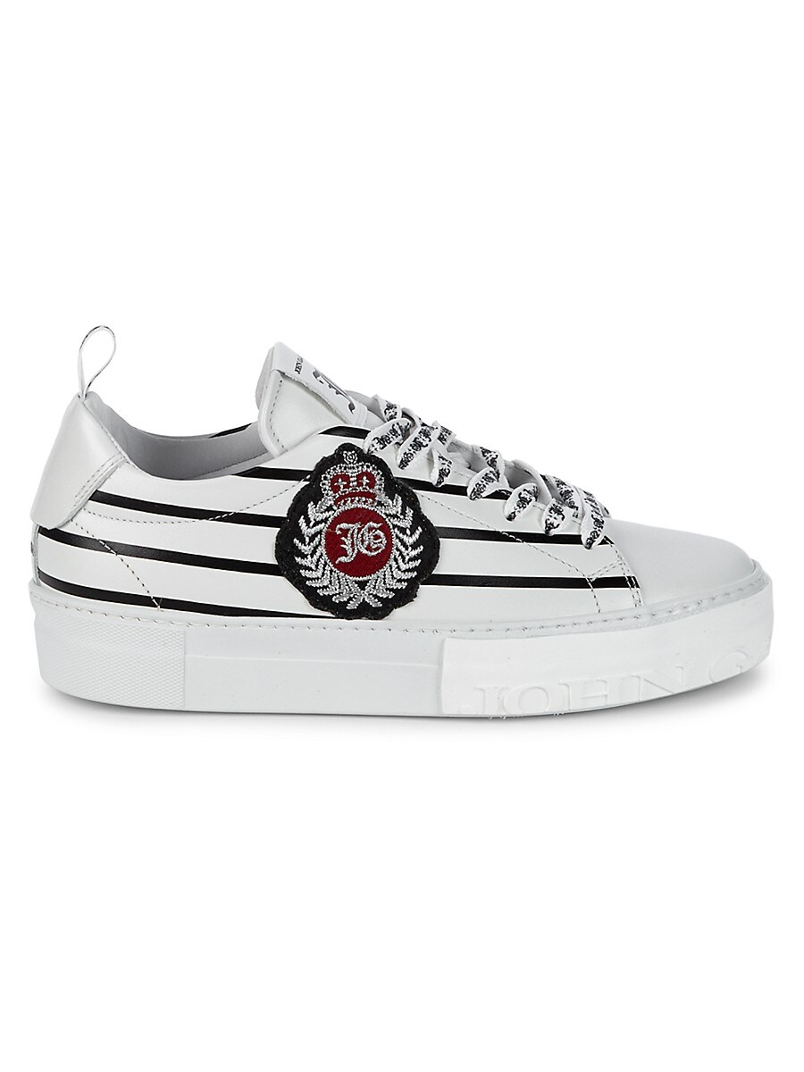 Women's Crest Leather Sneakers