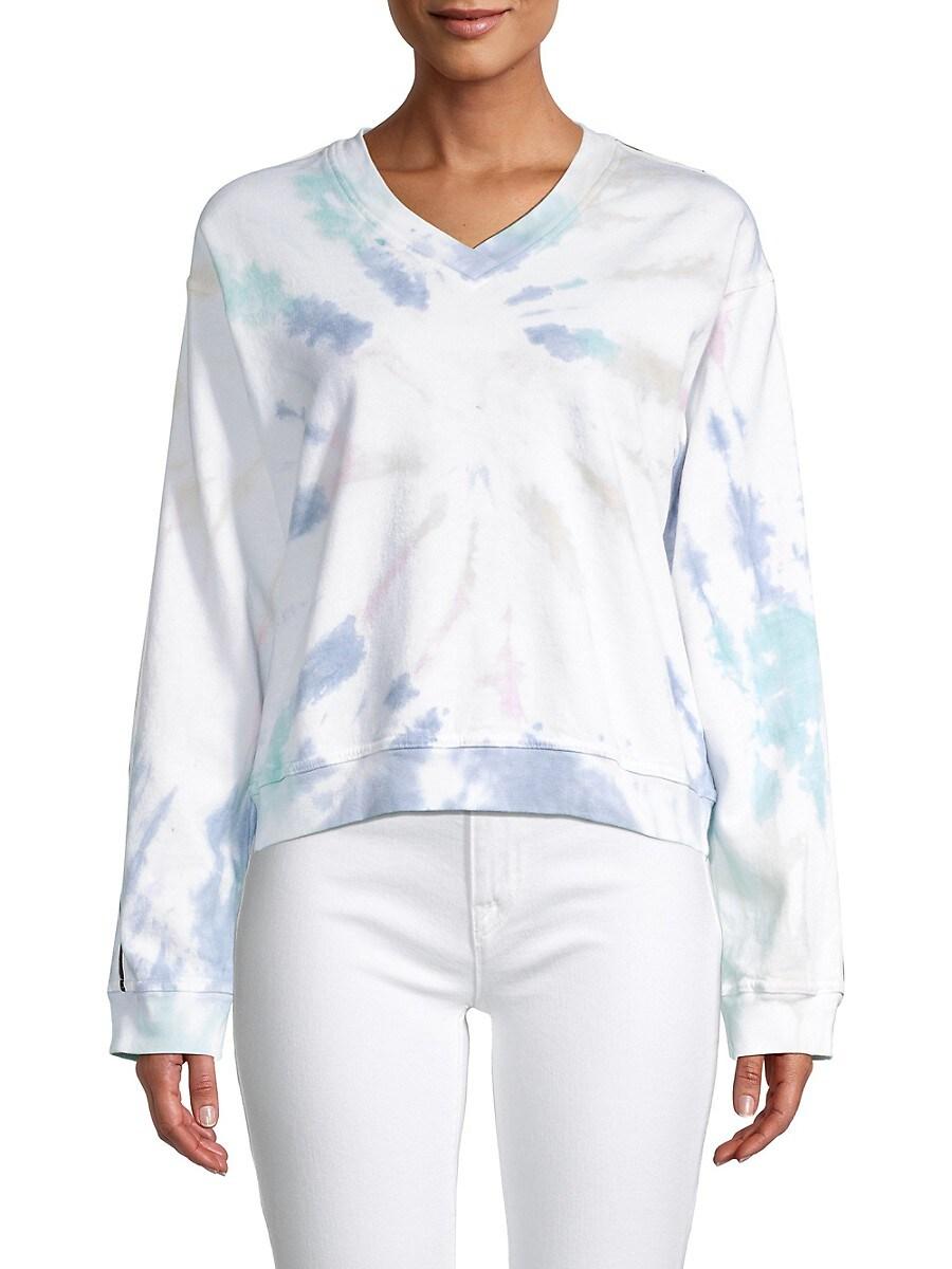 Women's Tie-Dyed Cotton Sweatshirt