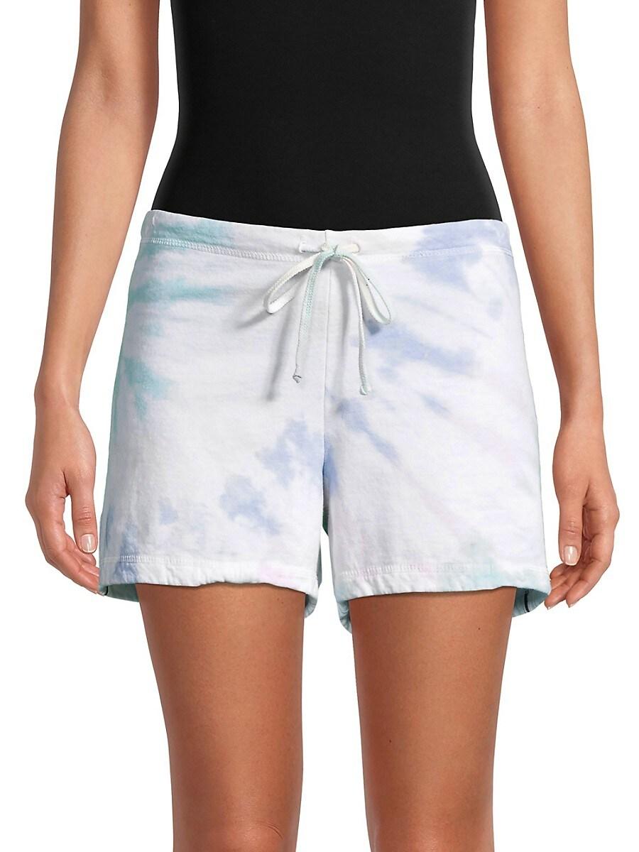 Women's Tie-Dyed Drawstring Cotton Shorts