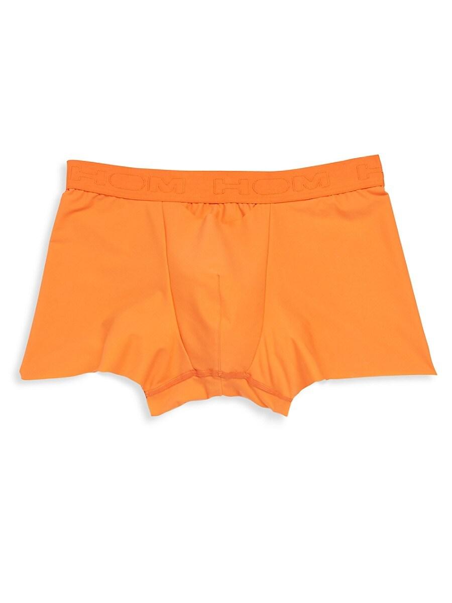 HOM Men's Solid Boxer Briefs - Orange - Size L