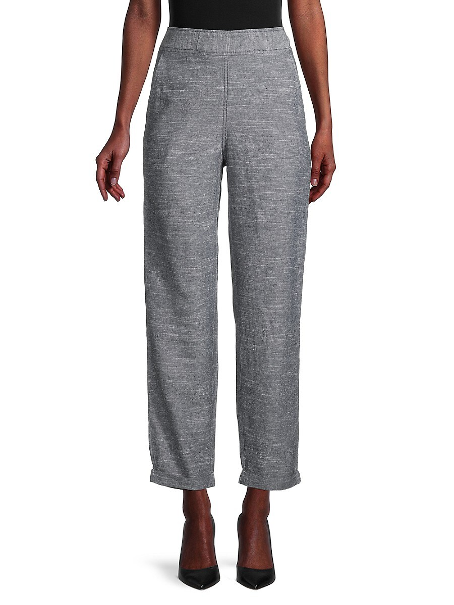 Women's Tie-Dyed Linen-Blend Pants