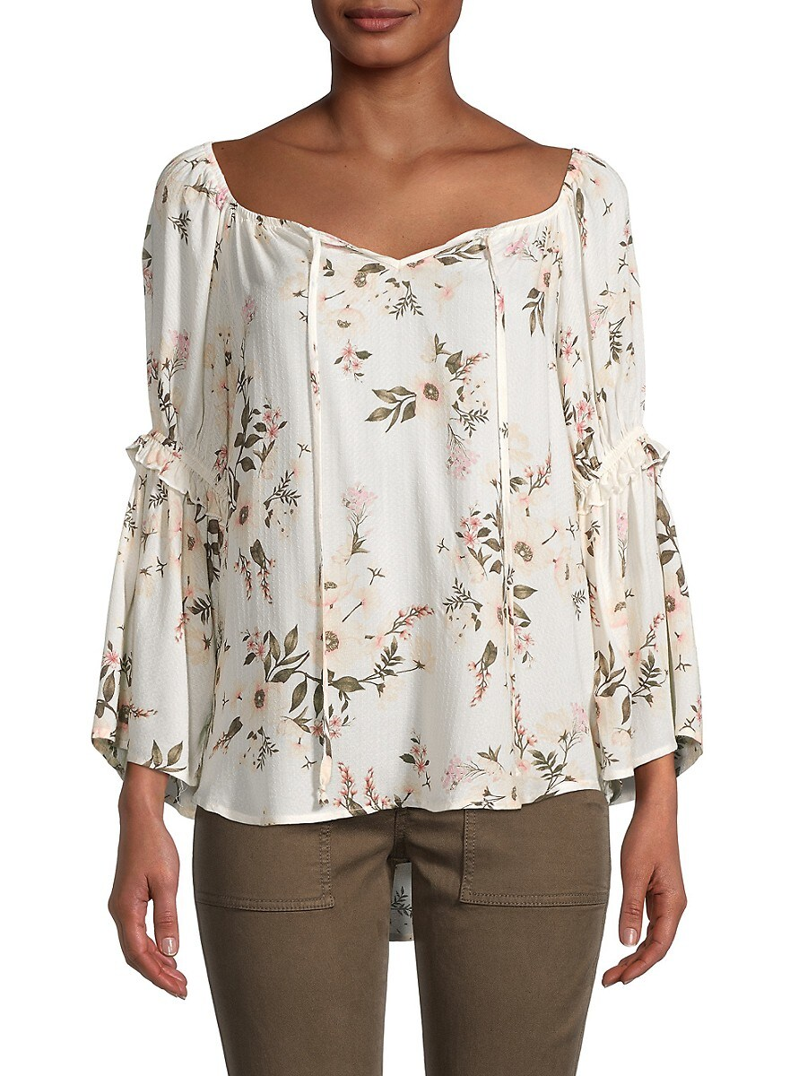 Women's Floral High-Low Top