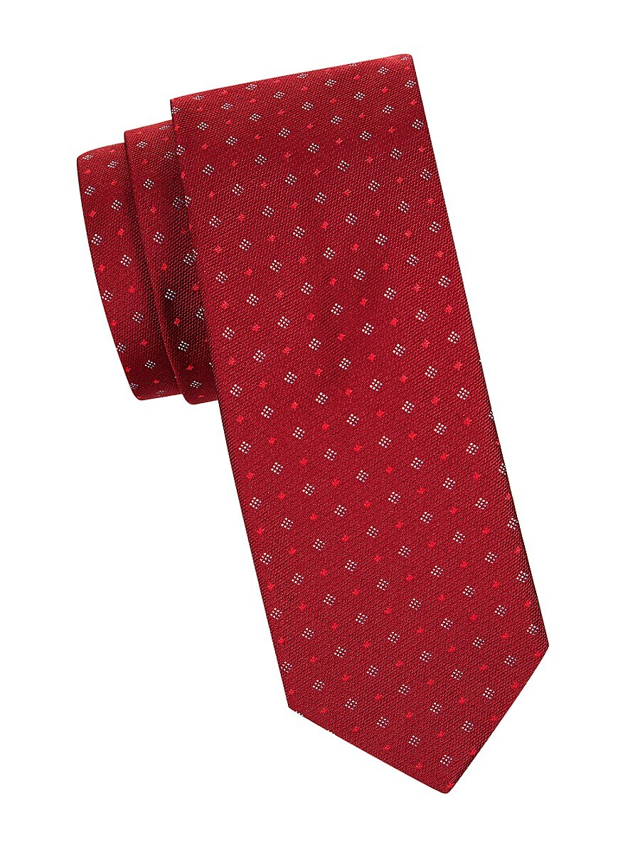 Men's Open Diamond-Pattern Tie