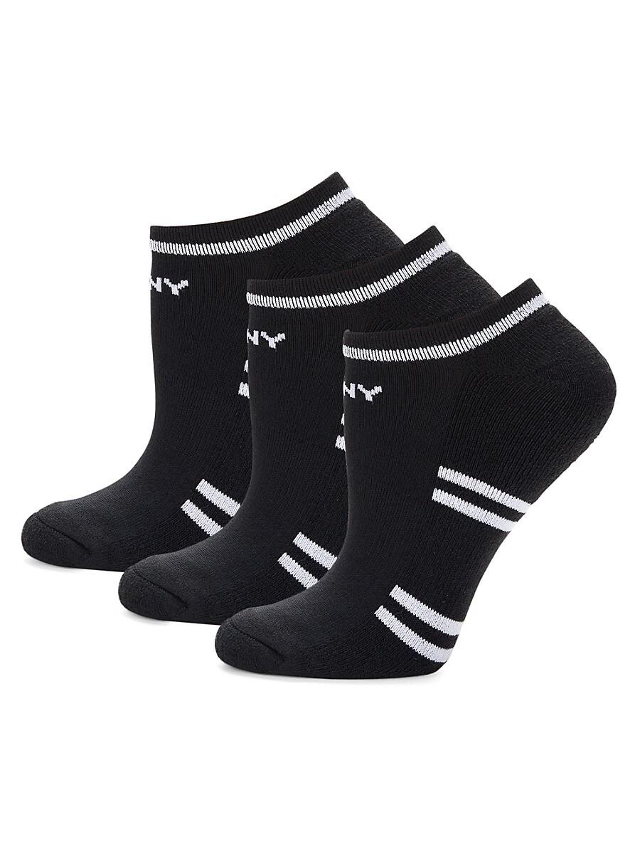 Women's 3-Pack Striped Ankle Socks