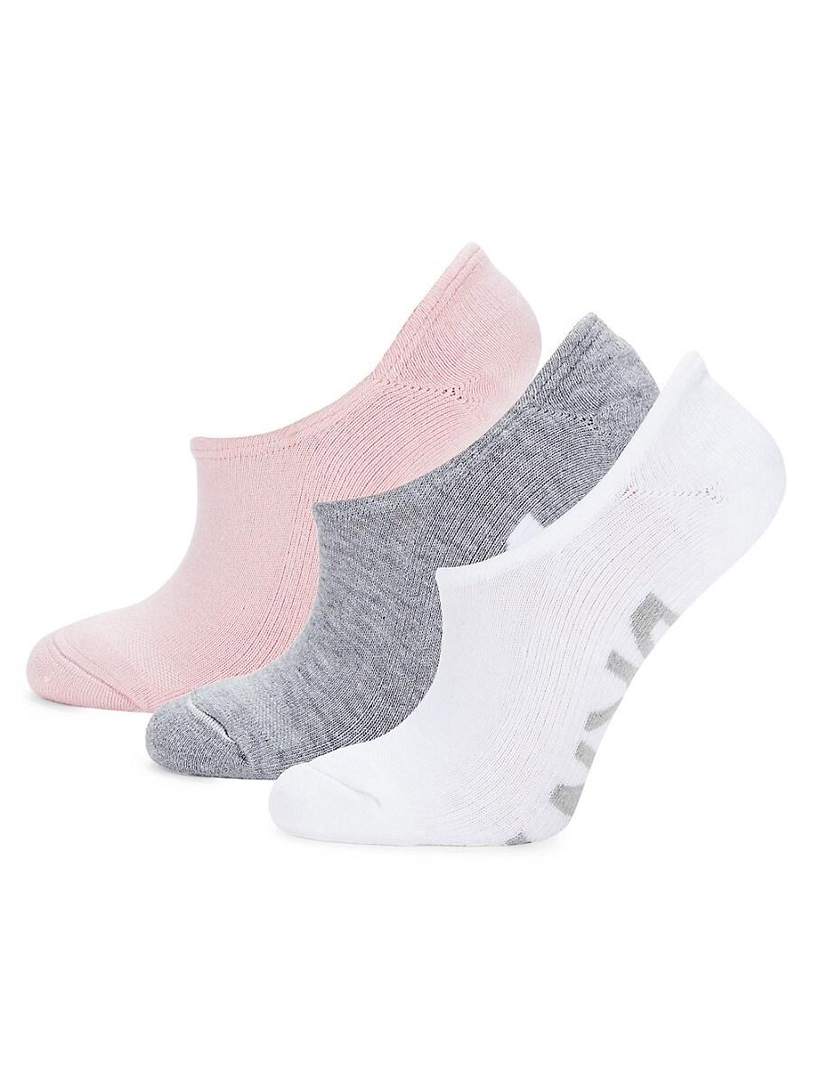 Women's 3-Pack Bold Logo No-Show Socks