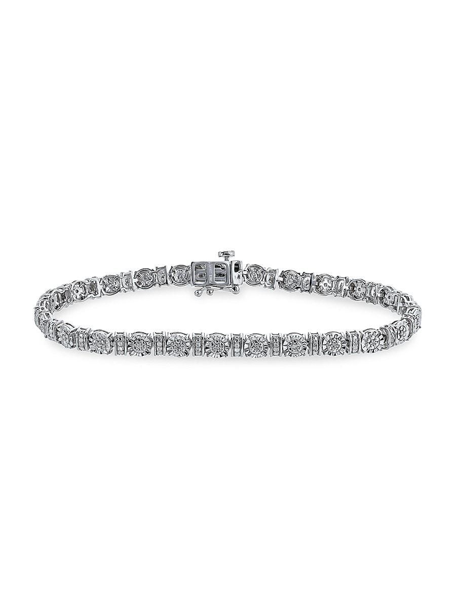 Women's Eny Sterling Silver & 0.22 TCW Diamond Tennis Bracelet
