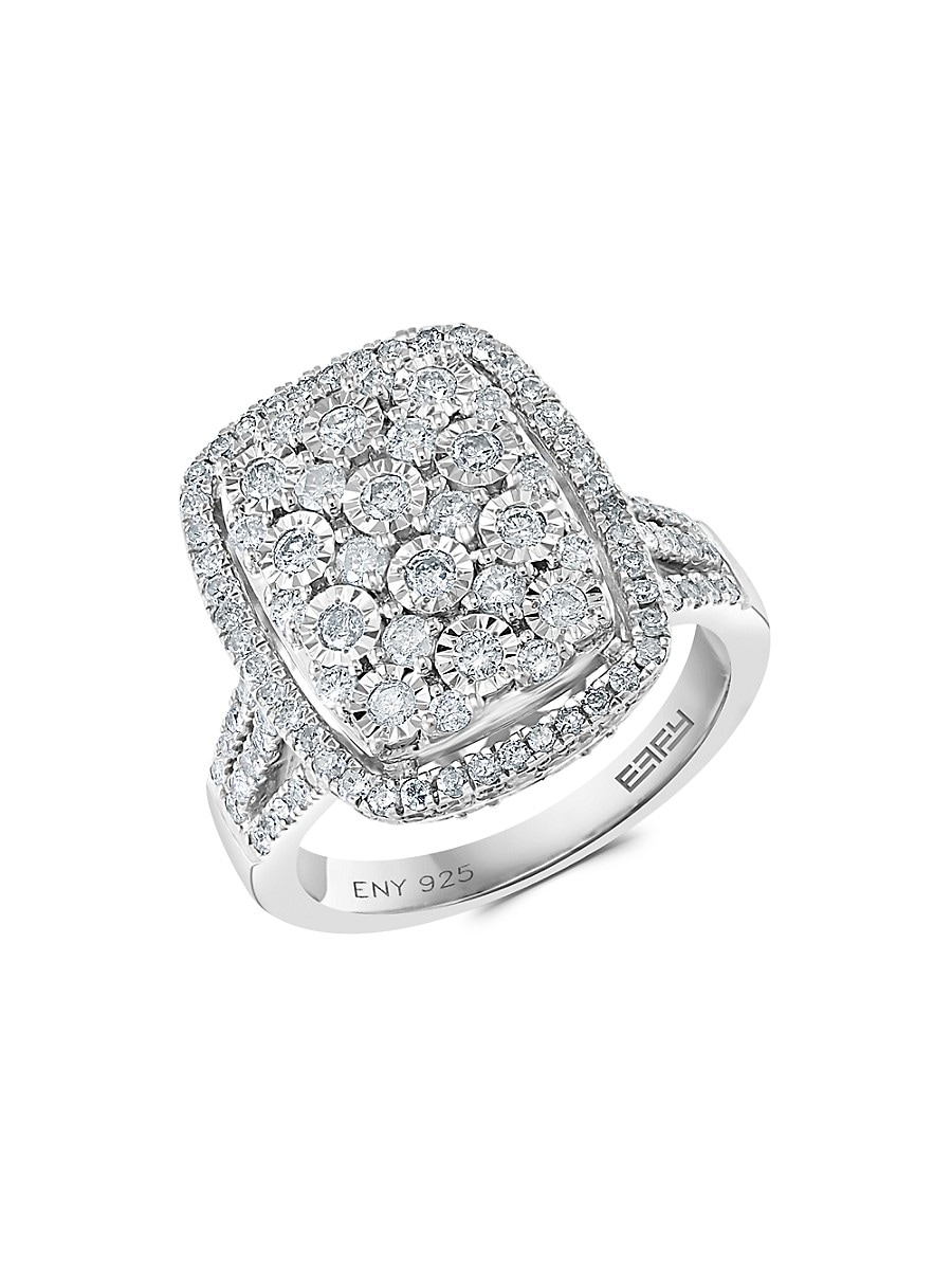 Women's Sterling Silver & Diamond Cocktail Ring