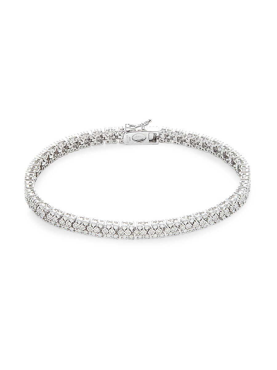 Women's Sterling Silver & 0.96 TCW Diamomd Bracelet