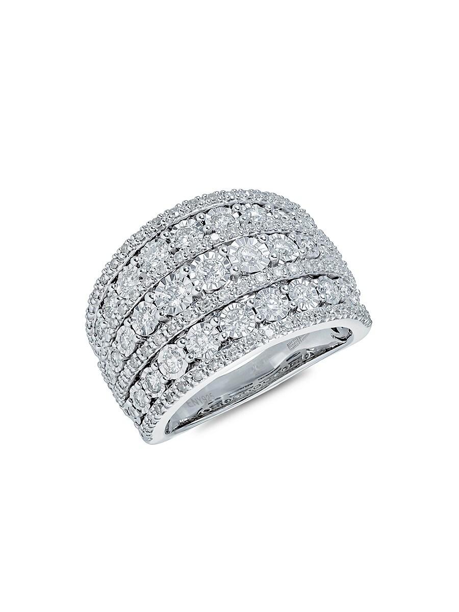 Women's Sterling Silver & Diamond Midi Ring