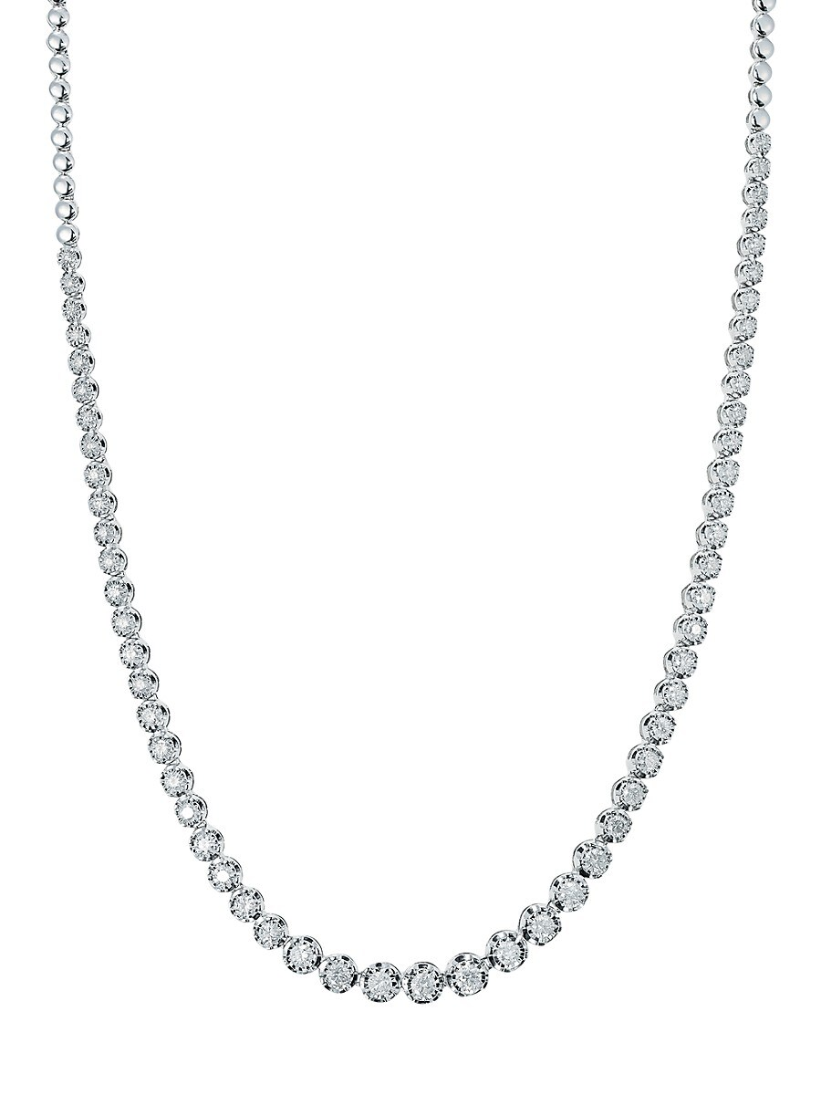 Women's Sterling Silver & Diamond Necklace