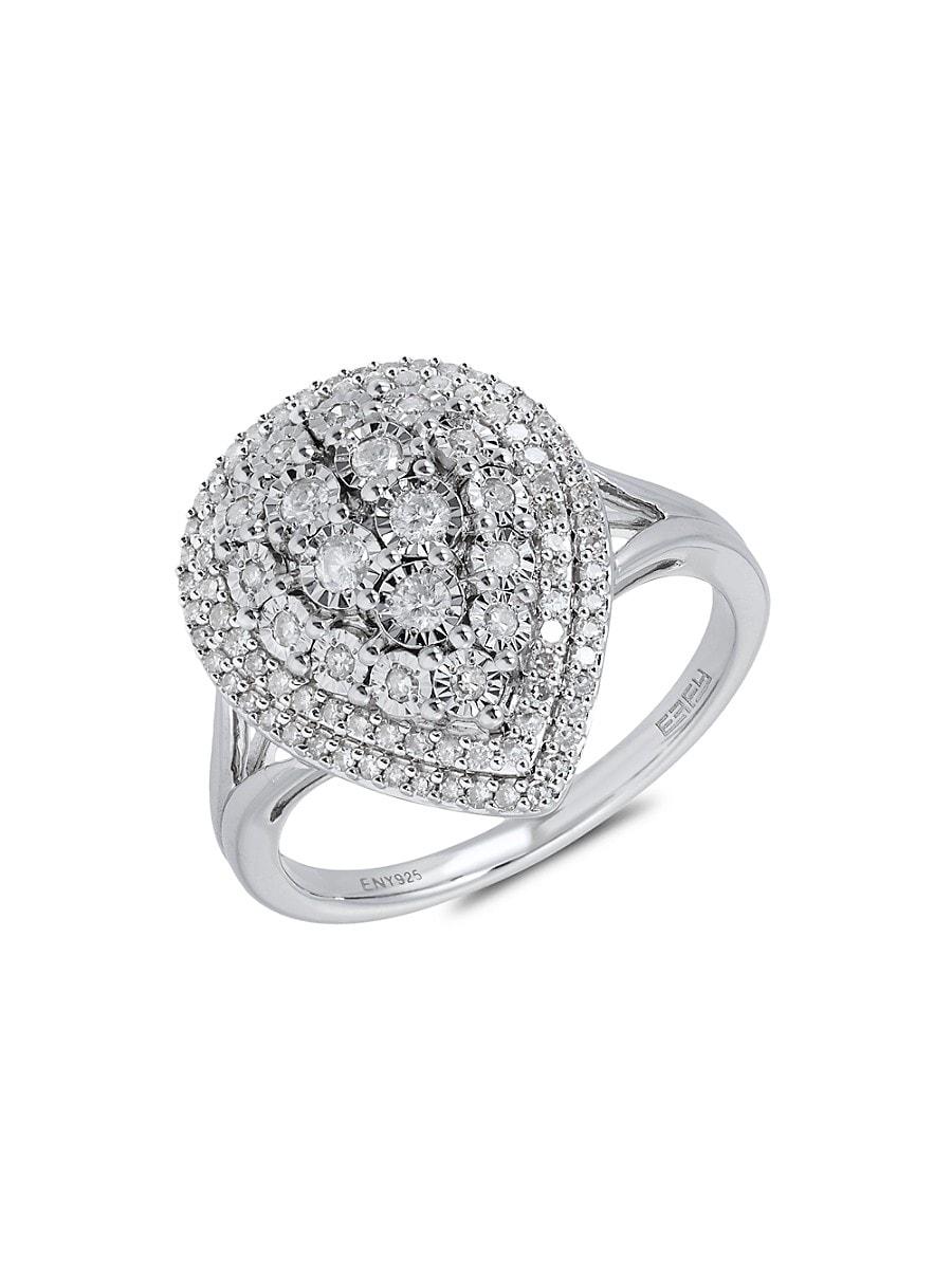 Women's Sterling Silver & Diamond Ring