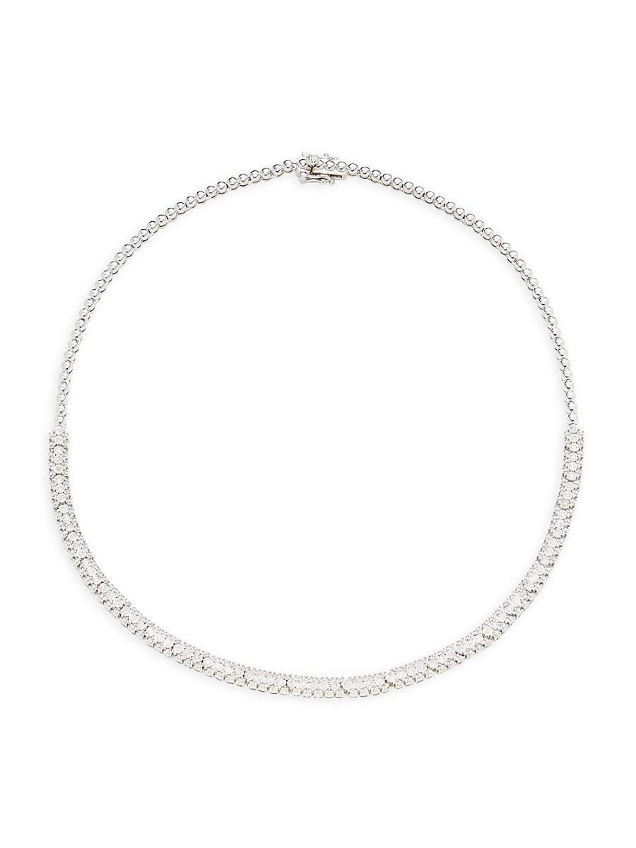 Women's Sterling Silver & 0.94 TCW Diamond Choker Necklace