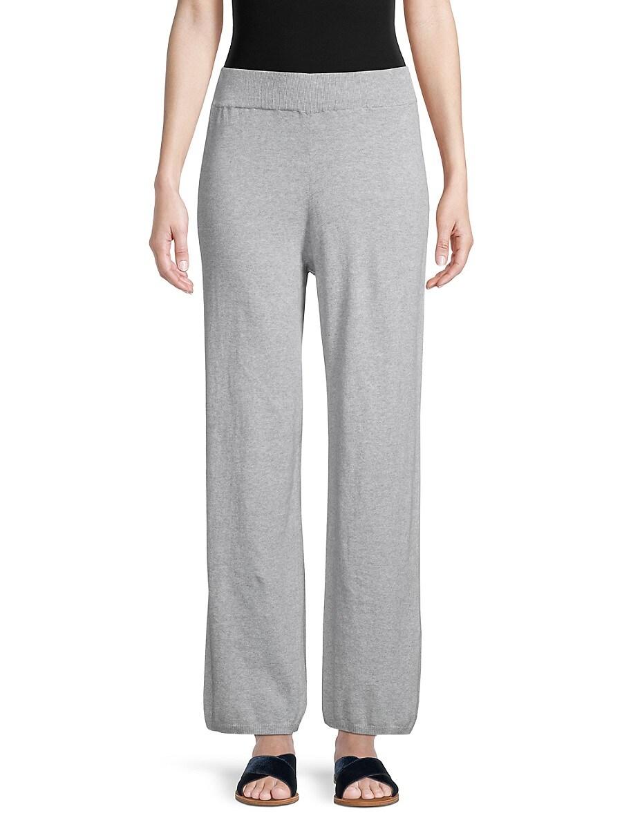 Women's Heathered Wide-Leg Pants