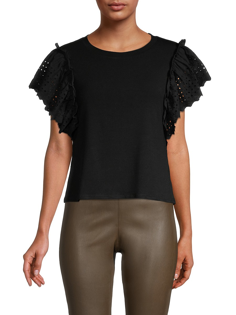 Women's Eyelet-Embroidered T-Shirt