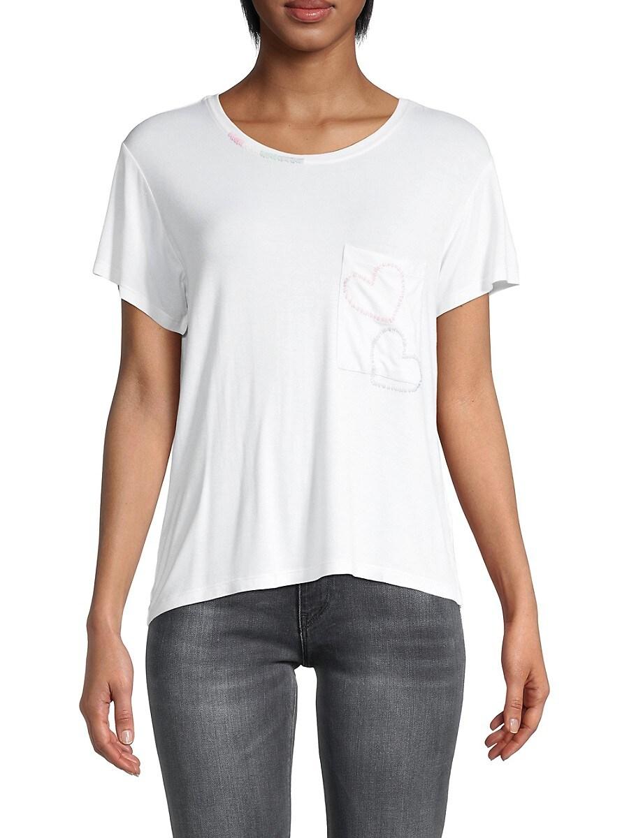 Women's Hearts Pocket T-Shirt