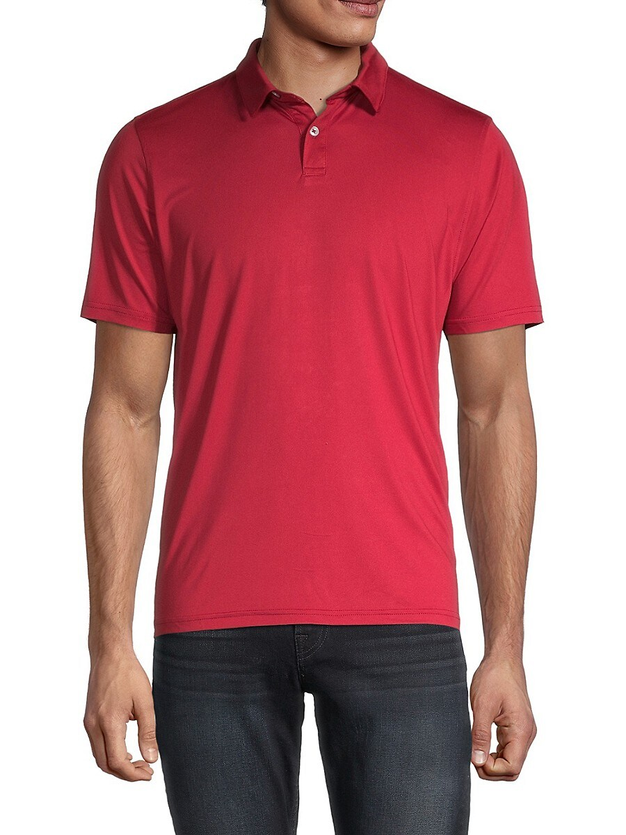 Men's Solid Performance Slim-Fit Polo