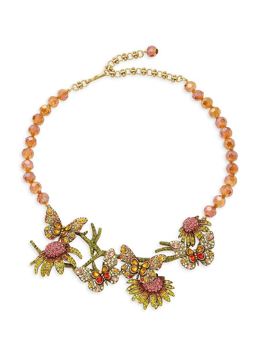 Women's Goldtone & Multicolored Crystal Necklace
