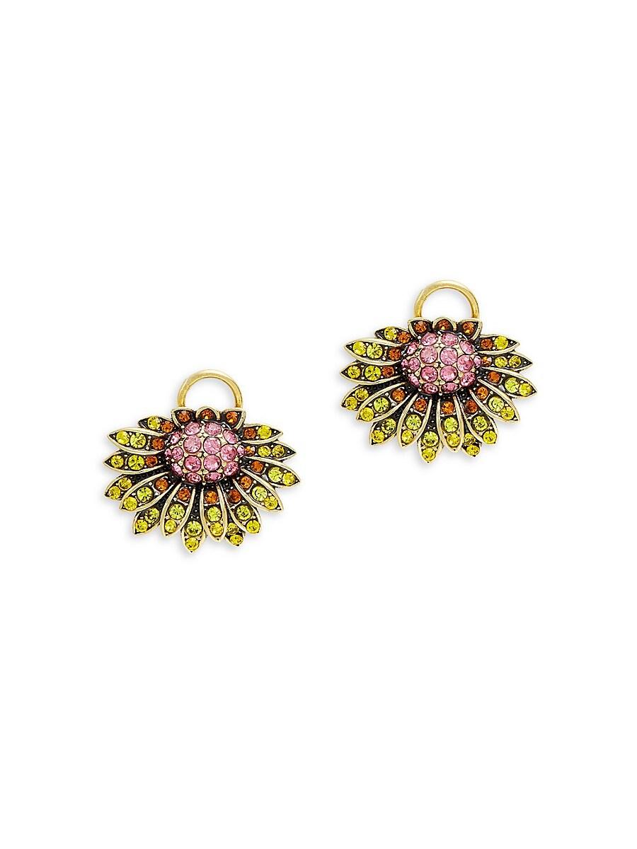 Women's Goldtone & Multicolored Crystal Butterfly & Floral Earrings