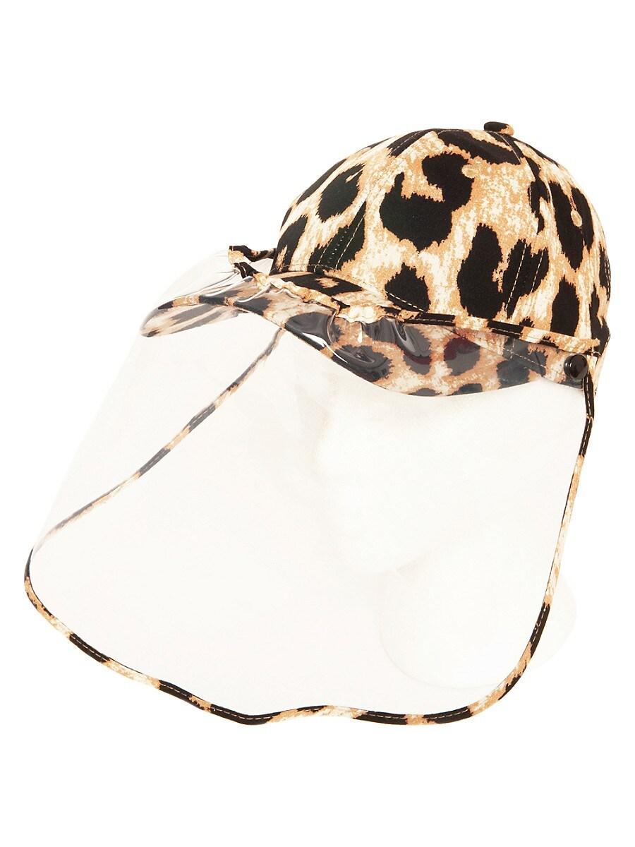 Women's Animal-Print Face Shield Ball Cap