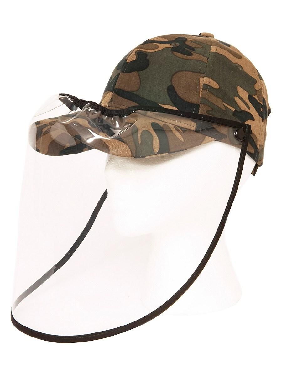 Women's Camo Face Shield Ball Cap