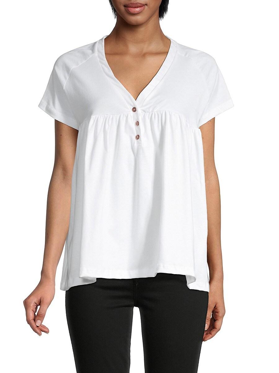 Women's Peplum Bottom Cotton T-Shirt