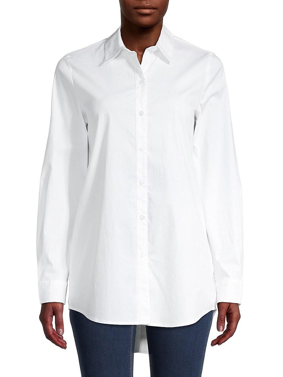 Women's Poplin Long-Sleeve Shirt