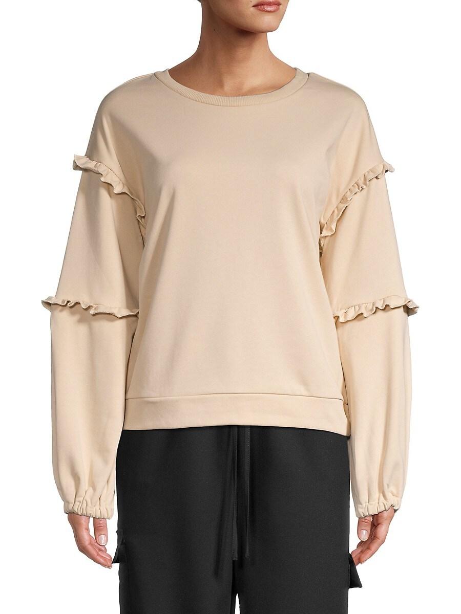 Women's Ruffle-Trim Sweatshirt