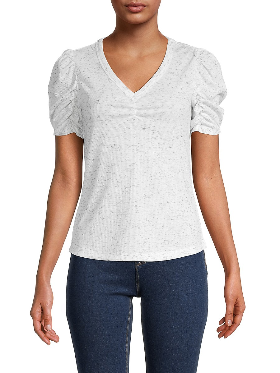 Women's Ruched-Sleeve T-Shirt