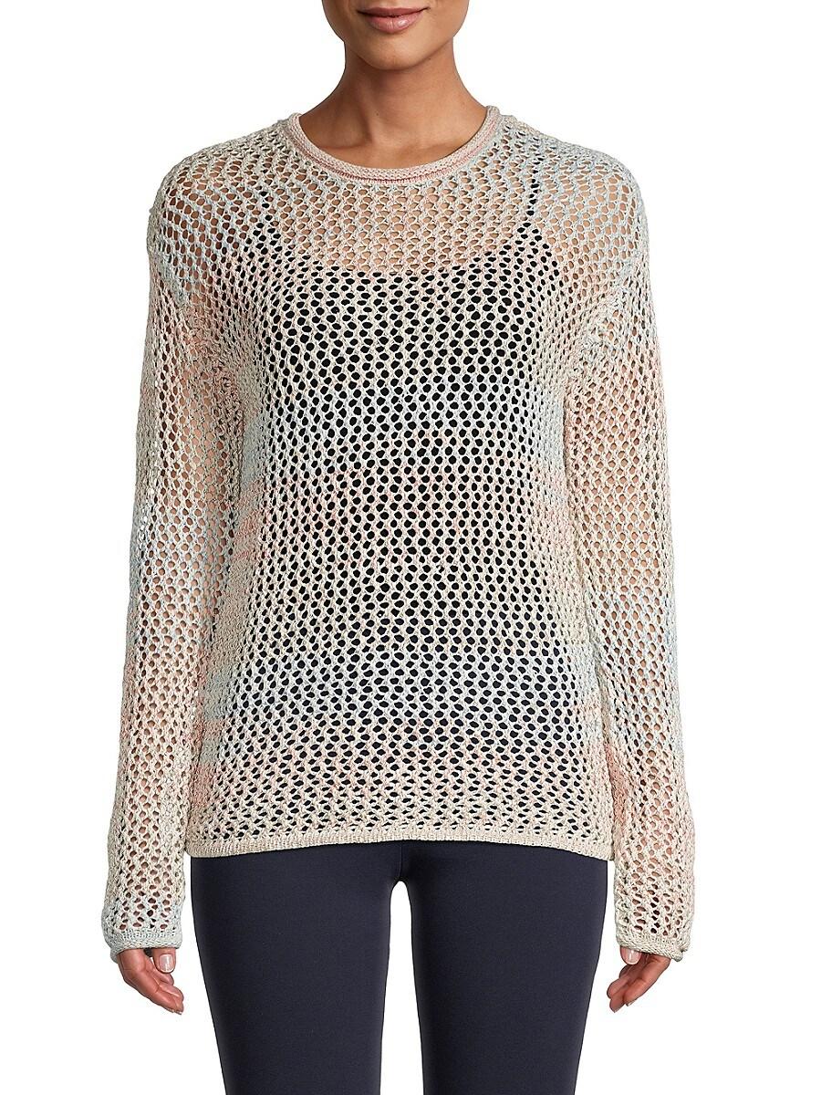 Women's Long-Sleeve Crocheted Top