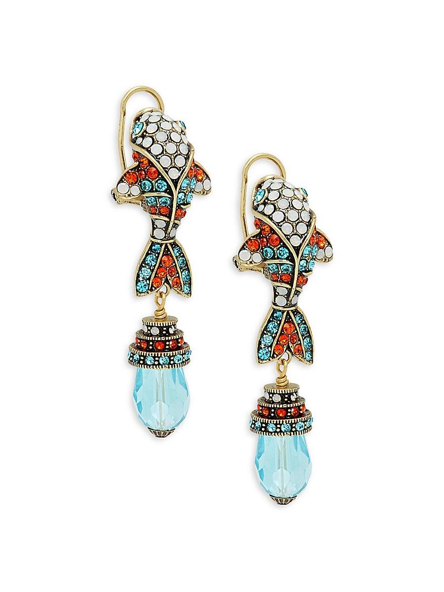 Women's Beaded Fish Earrings